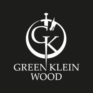 green klein wood logo negative