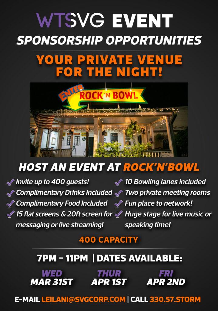wts rock n bowl sponsor package draft